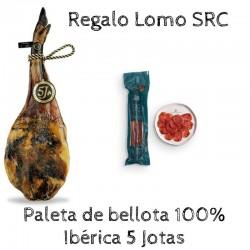 Paleta de Bellota 100% Ibérica 5 jotas - 5j y Lomo SRC